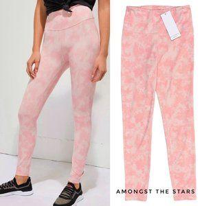 All Fenix Blush Pink Tie Dye 7/8 Ankle Leggings